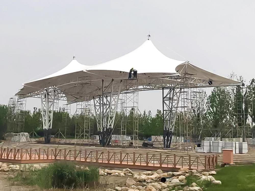 东营奥体中心景观膜结构项目