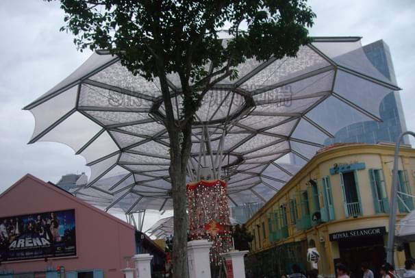 商业街ETFE透明膜