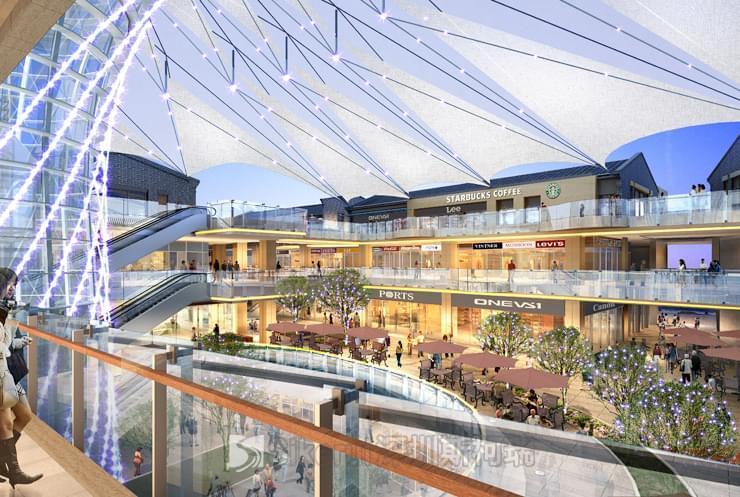 温州瑞安商业中心膜结构