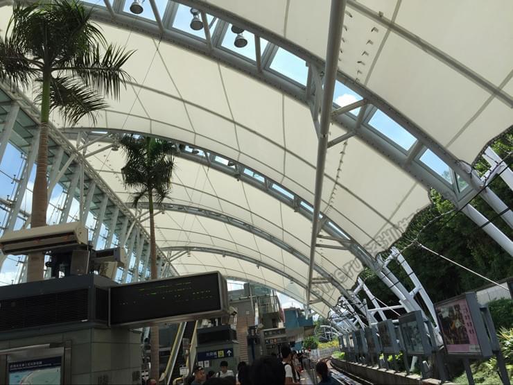 香港欣澳站台顶棚膜结构