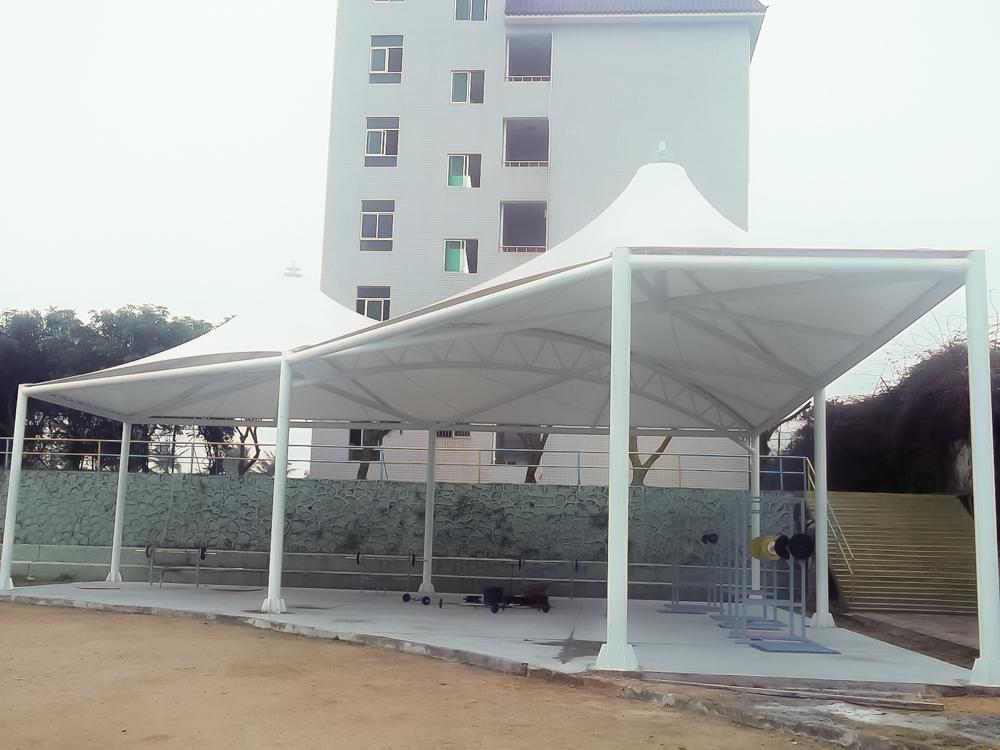 湛江少林学校风雨操场膜结构项目