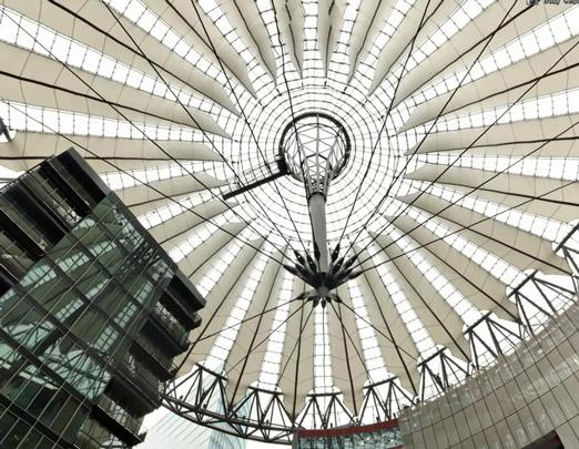 德国Hanse Viertel屋顶膜结构