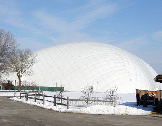 内蒙呼伦贝尔羽毛球馆充气膜结构