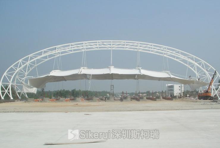 京大高速大同收费站膜结构