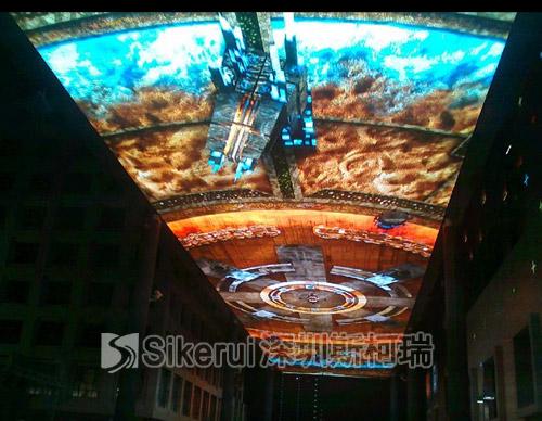 南京万达LED天幕膜结构