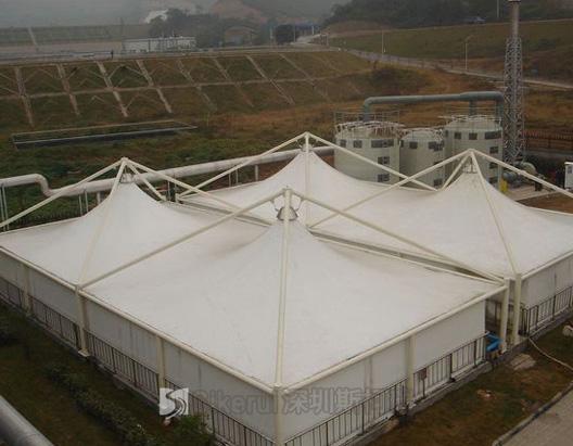 宁厦污水处理厂加盖膜结构