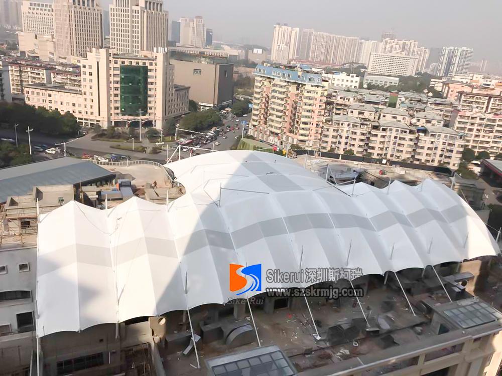 株洲奥园商业街顶棚膜结构