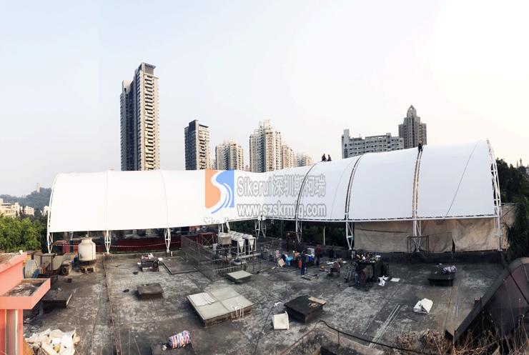 华侨城商业街顶棚膜结构